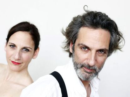 Malena y Ernesto Alterio, el pasado martes, en el Teatro La Latina de Madrid.