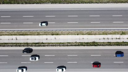 Drone view of a highway in Turkey on April 29.