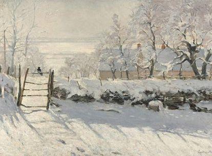 <i>La urraca</i> (entre 1868 y 1869), de Claude Monet, obras pertenecientes al Museo de Orsay de París.