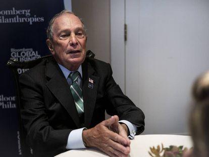 Michael Bloomberg, el pasado miércoles durante la entrevista.