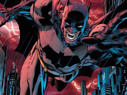 Batman, dibujado por Jim Lee en 'All Star: Batman y Robin' (2009). Lee es el actual presidente creativo de DC Entertainment. En el vídeo, 'Batman y Bill'