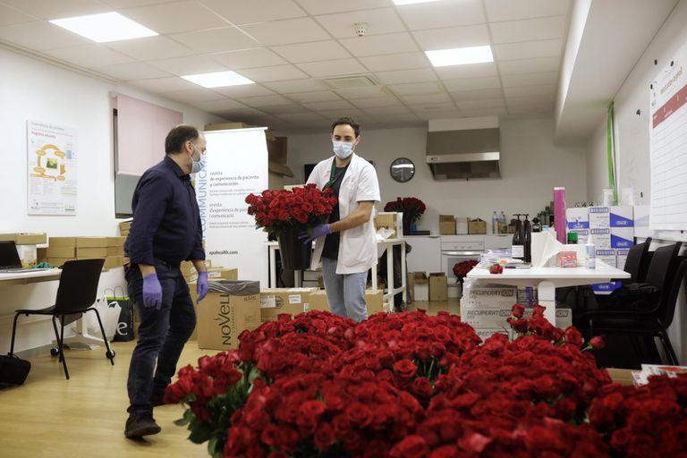 El Clínic reparte 5.000 rosas a sus pacientes y trabajadores por Sant Jordi.