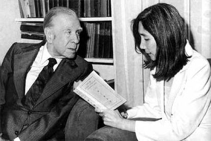 Jorge Luis Borges y María Kodama.
