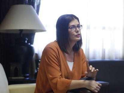 Noelia Posse, alcaldesa de Móstoles, en su despacho en una imagen de archivo.