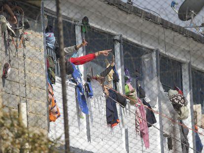 Presos en la cárcel Modelo de Bogotá, el pasado 22 de marzo.