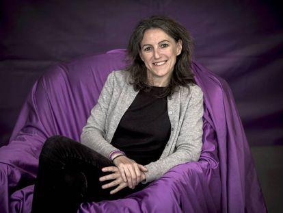 María Oliver, candidata de Unides Podem a la Alcadía de Valencia, en la Morada, la sede de Podem.