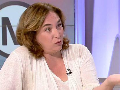 Ada Colau durante la entrevista en TV3