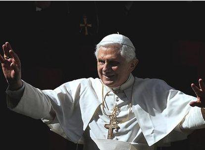 El papa Benedicto XVI en la misa del pasado domingo en Roma.