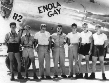 Tripulación del 'Enola Gay', el avión que lanzó al bomba sobre Hiroshima.