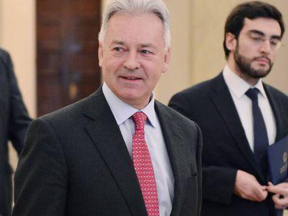 El secretario de Estado británico Alan Duncan, en Atenas el pasado 5 de junio.