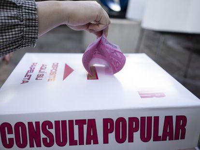 México celebró este domingo su primera consulta popular que abre la puerta a investigar y juzgar a los expresidentes.