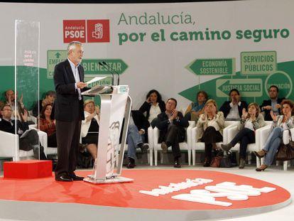 José Antonio Griñán, durante su intervención en el comité director del PSOE de Andalucía.
