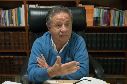 El expresidente Eduardo Duhalde, durante la entrevista con EL PAÍS.