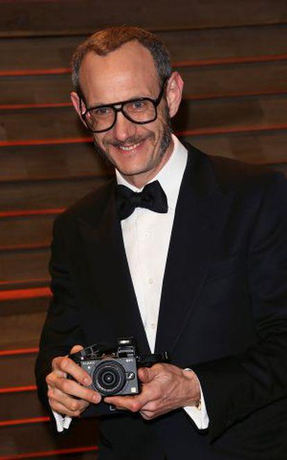 El fotógrafo Terry Richardson, en la fiesta organizada por 'Vanity Fair' tras la gala de los Oscar 2014.