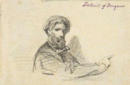 Retrato de Gustavo Adolfo Bécquer, hecho por su hermano Valeriano (1856).