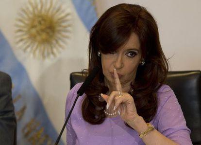 La presidenta argentina, Cristina Fernández, el pasado 11 de febrero.