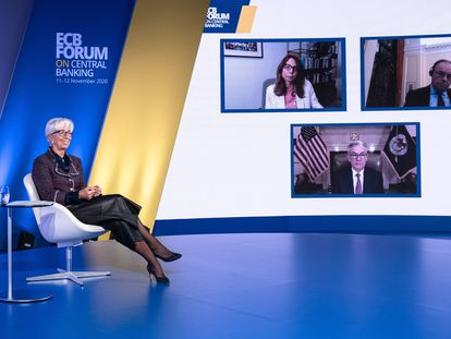 Christine Lagarde en el Foro del BCE sobre banca central.