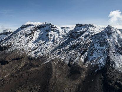Vista panorámica del volcán Iztaccíhuatl, en México, el 14 de mayo de 2021.