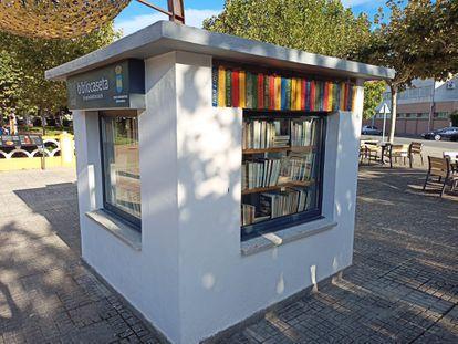 La bibliocaseta de Ciudad Rodrigo, restaurada después de haber sido incendiada.