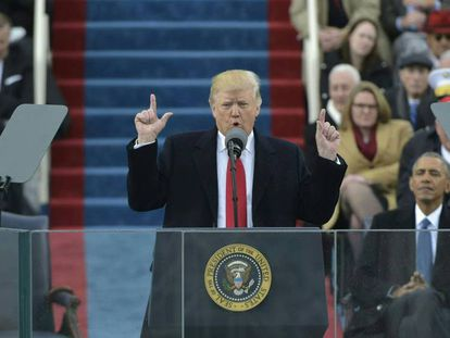 FOTO: Donald Trump, en su toma de posesión como presidente de EEUU. / VÍDEO: Discurso del presidente.