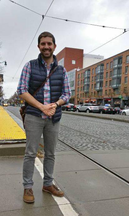 Matteo Cera en San Francisco.