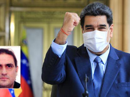 Una imagen del empresario Alex Saab sobrepuesta en una de Nicolás Maduro, presidente de Venezuela.