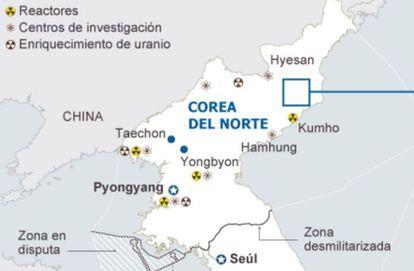 Gráfico de las pruebas nucleares anteriores.