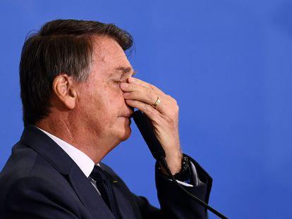 El presidente brasileño, Jair Bolsonaro, este miércoles.