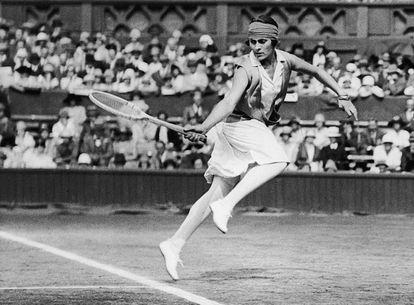 Lilí Álvarez, durante un partido de Wimbledon en 1926.