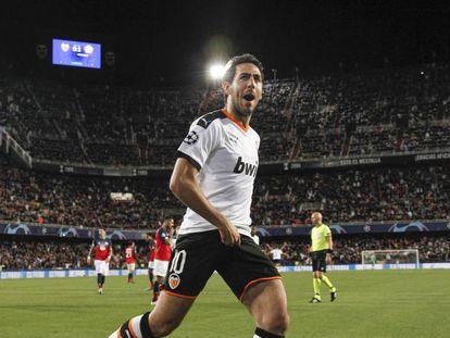 Dani Parejo, durante un partido de Champions la pasada temporada.
