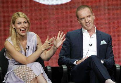 Los protagonistas de 'Homeland', Claire Danes y Damian Lewis.