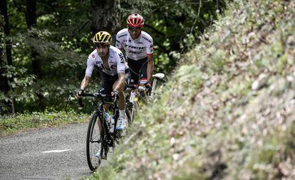 Landa y Contador, en la 13ª etapa.
