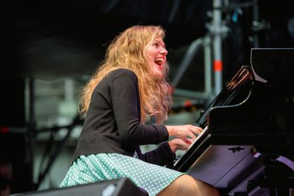 The Danish pianist and composer Kathrine Windfeld, on Friday on the stage of the Iradier, in Vitoria.