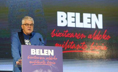 Antton López Ruiz 'Kubati', durante el homenaje a la etarra Carmen González Peñalba en 2017