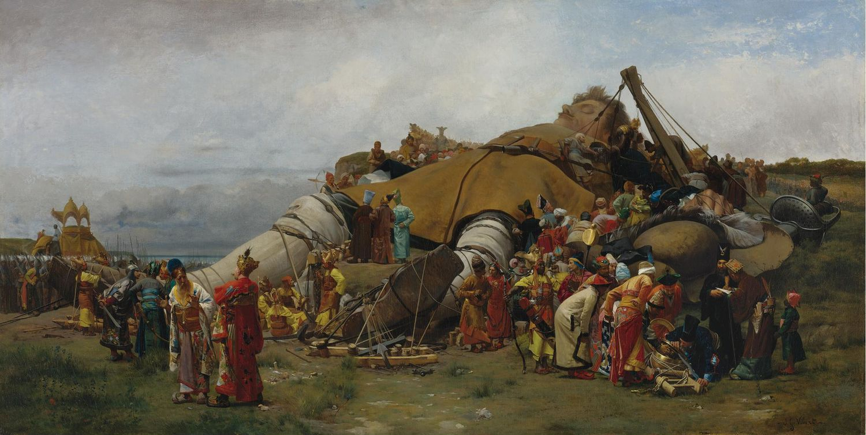 'Gulliver y los liliputienses', Jehan-Georges Vibert