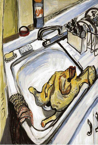 'Acción de Gracias' (1965), de Alice Neel.