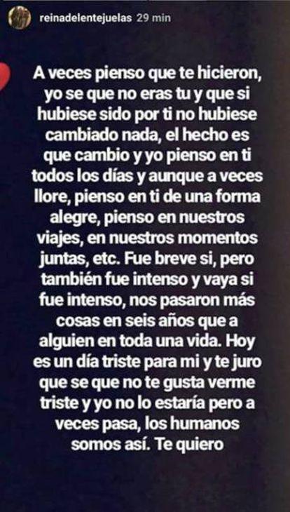El mensaje de Carla Vigo Ortiz a su madre Érika en su Instagram.