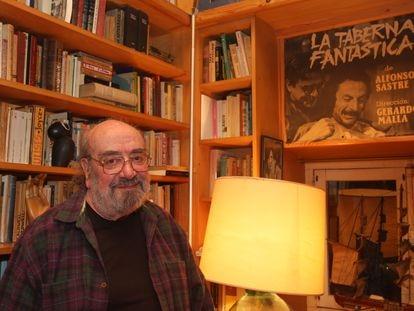 El dramaturgo Alfonso Sastre, en su casa de Hondarribia en 2008.