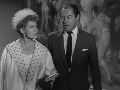 Fotograma de 'El último chantaje', con Rita Hayworth y Rex Harrison en el Museo del Prado.