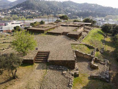 Vista general del yacimiento romano de Can Tacó (Barcelona).