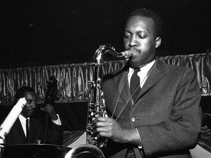 El saxofonista Hank Mobley, en 1959 en Nueva York.