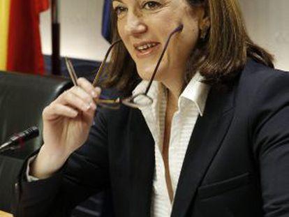 Soraya Rodríguez, el pasado martes en el Congreso.
