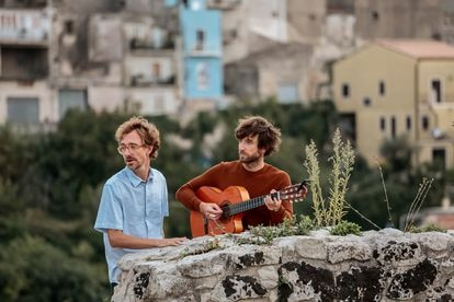 The Norwegian group Kings of Convenience, in a promotional image for their new album.