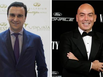 De izquierda a derecha Abel Matutes Prats y Enrique Sarasola propietarios de grupos hoteleros.
