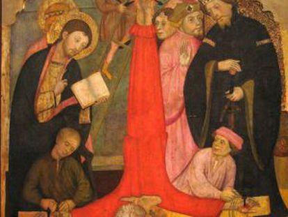 'Crucifixión de Sant Pere', de Pere Serra, realizado alrededor 1400 para la iglesia de Sant Pere de Cubells.
