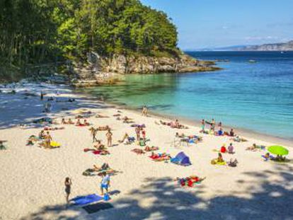Playa Figueiras, en las islas Cíes.