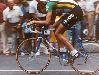 El ciclista belga Alfons De Wolf, durante una carrera