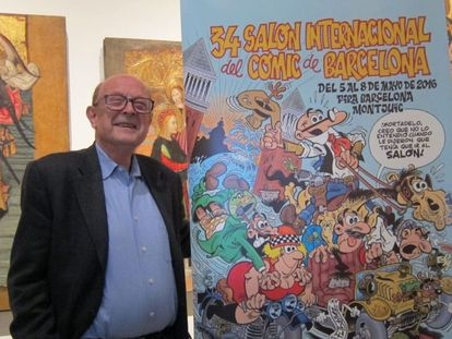 Ibáñez, con su cartel para el Salón del Cómic de Barcelona