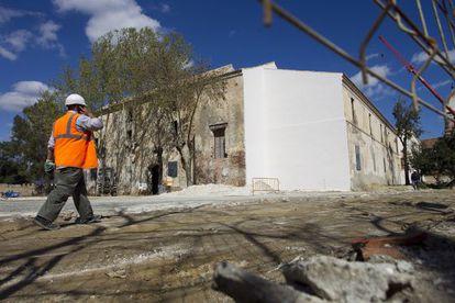 Obras en el antiguo convento de la Trinidad en Málaga,