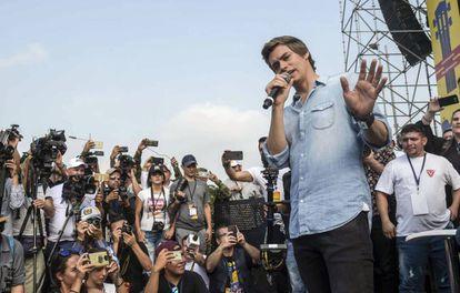 Carlos Baute en el Venezuela Aid Live.